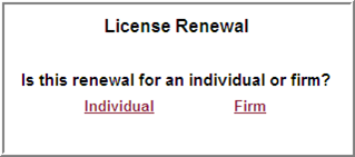 license renewal